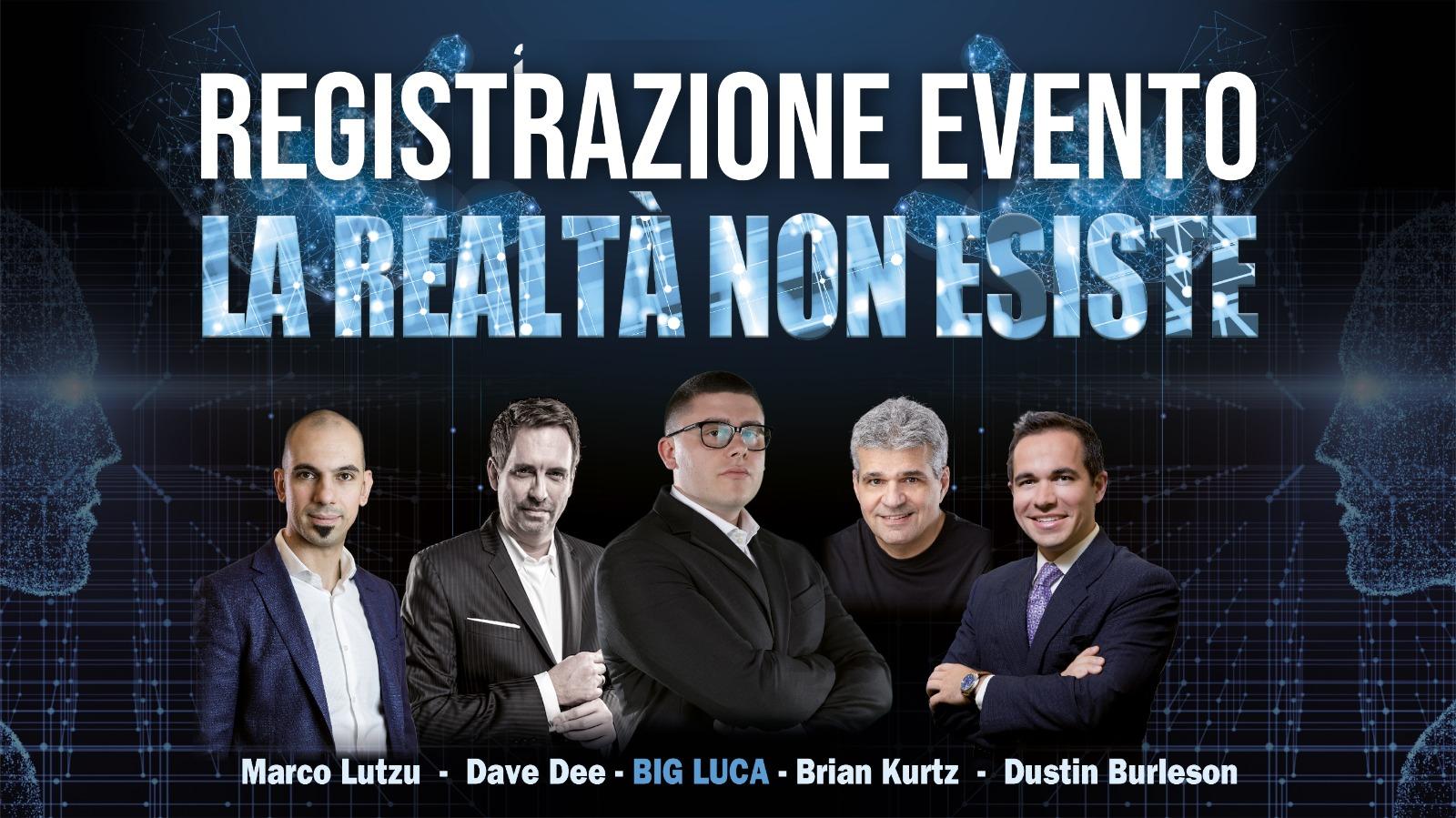 Registrazione Evento La Realtà Non Esiste
